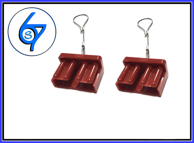 AU6.95 • Buy 2 X RED Dust Cap Anderson Plug Cover Style Connectors 50AMP Battery Caravan