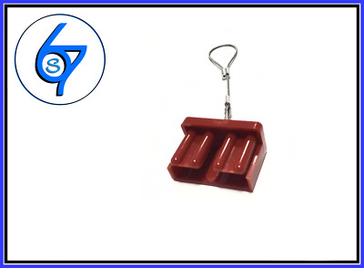 AU3.95 • Buy RED PUSH ON DUST CAP COVER ANDERSON PLUG 50 AMP DUAL BATTERY 50a