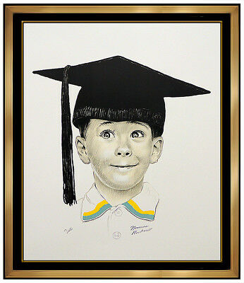 $ CDN3266.20 • Buy Norman Rockwell Original Color Illustration Lithograph The Big Day Hand Signed