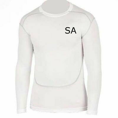 £8.99 • Buy Personalised Mens Compression Armour Base Layer Top Long Sleeve Thermal Sports