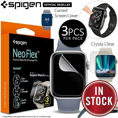 AU15.99 • Buy SPIGEN Neo Flex Film 3PCS For Apple Watch Series 6 SE 5 4 44mm Screen Protector
