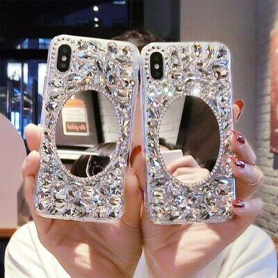 AU7.99 • Buy For Huawei Xiaomi OPPO INS Handmade Luxurious Glitter Diamond Mirror Case Cover