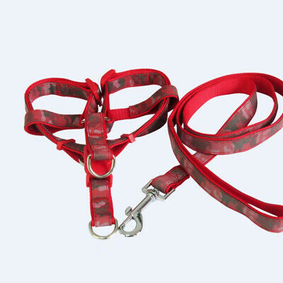 £3.99 • Buy Camouflage Dog Harness Leash Set Dogs Leads For Puppy Walking -Red,size 4