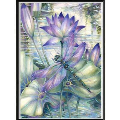 $ CDN5.85 • Buy Full Drill 5D DIY Diamond Painting  Lotus Dragonfly  Embroidery Cross Stitch 6L
