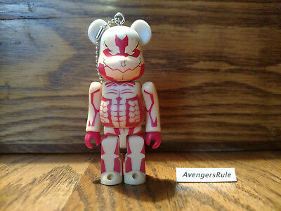 $14.95 • Buy Bearbrick Attack On Titan Keychain Medicom Armored Titan