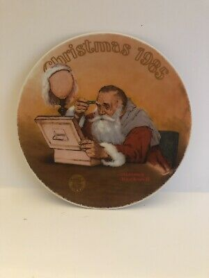 $ CDN32.73 • Buy Norman Rockwell..Grandpa Plays Santa...Christmas 1985 Plate.