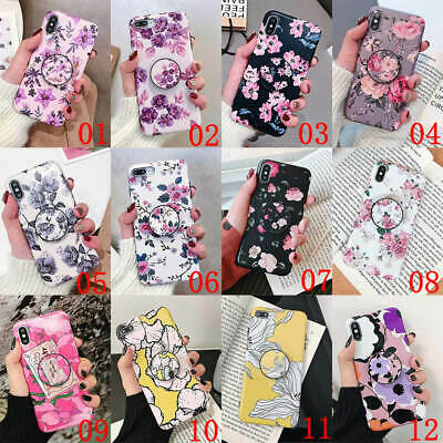 AU6.78 • Buy For IPhone 12 Mini 11 Pro Max XS XR 6 7 8 Plus Flower Holder Stand Soft TPU Case