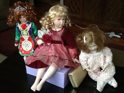 $ CDN28.29 • Buy 3 Porcelain Doll Lot Katie Bridgette Deval Exclusive Christmas World Irish Dance