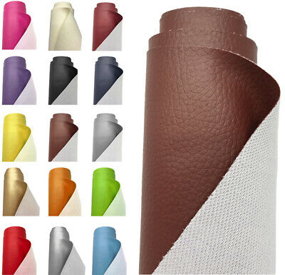 £0.99 • Buy Grain Faux Leather Leatherette Fabric Heavy Duty Waterproof Material Upholstery