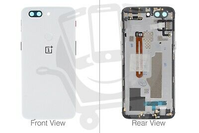 AU125.26 • Buy Official OnePlus 5T A5010 White Battery Cover Assembly (No Lens) - 2011100025