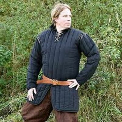 Gambeson Medieval  Clothing Padded Full Sleeves Armor Reenactment • 69.99£