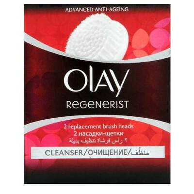 AU17.36 • Buy OLAY REGENERIST MICRO SCULPTING CLEANSING SYSTEM - REPLACEMENT BRUSH HEADS X 2