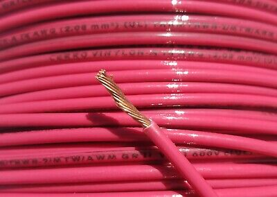 250' Ft, 14 AWG Gauge, Red Stranded Copper Power Wire, THHN, THWN-2, MTW, USA • 15$