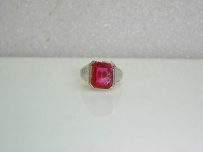 Large Ruby Ring Set In 14k Yellow Gold W/white Gold Accent Size 9.25 N516-p • 298.75£