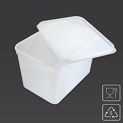 4 Litre Rectangular Ice Cream Container / Food Storage Tub Kitchen Box With LID • 13.85£