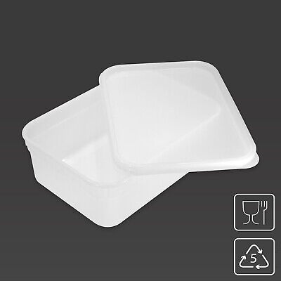 2 Litre Rectangular Ice Cream Container / Food Storage Tub Kitchen Box With LID • 11.95£