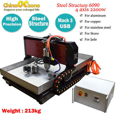AU5390 • Buy CNC 6090 4axis 2.2KW CNC Router Small CNC Steel Metal Engraving Milling Machine
