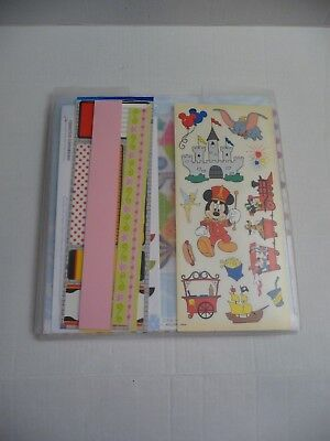 $30 • Buy  Huge Disney Characters Scrapbook Papers And Stickers Package Lot