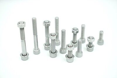 AU14 • Buy 10pcs M6 50mm Allen Bolts, Nuts And Washers In Stainless Steel G304