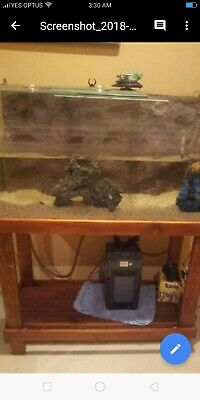 AU450 • Buy 3ft Fish Tank X 2 & 1 Small Tropical Fish Setup Includes Filters Light Heaters.