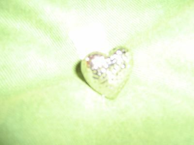 $ CDN32.17 • Buy Lia Sophia Queen Of Hearts Ring Hammered Silver Size 8 New With Tags