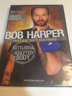 Bob Harper Kettlebell Sculpted Body Inside Out Method Training Workout Sealed • 8.51£
