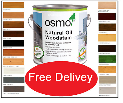 Osmo ® Natural Oil Woodstain 19 Shades, 5ml, 125m, 750ml, 2.5L • 12.50£