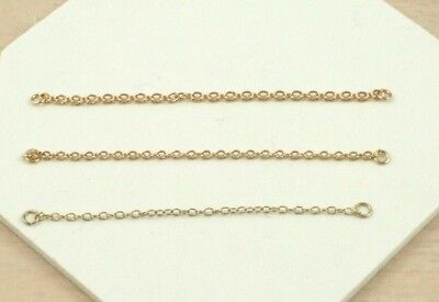 £26.70 • Buy 1 X 9ct 375 Yellow Gold Heavyweight 2.75 Inch Bracelet Safety Chain