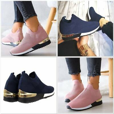 New Womens Ladies White Black Pink Shoes  Diamonds Flat Trainers Sneakers • 18.99£