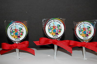 $12.99 • Buy 15 Mickey Mouse Clubhouse & Friends Personalized Birthday Lollipops