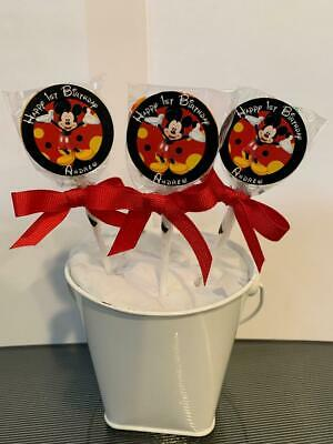 $12.99 • Buy 15 Mickey Mouse Personalized Birthday Lollipops