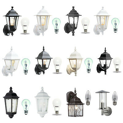 Traditional Garden Wall Lights / Outdoor Lanterns. Motion Sensor / LED Options • 12.97£