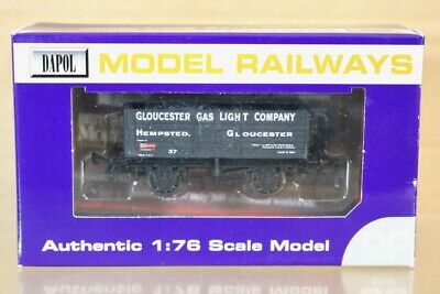 DAPOL GLOUCESTER GAS LIGHT CO 7 PLANK COAL WAGON 37 & LOAD LIMITED EDITION Ns • 19.50£