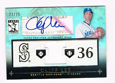 $15.99 • Buy 2010 Topps Tribute *cliff Lee* *auto + Gu Jersey Relic* #23/75* Seattle Mariners