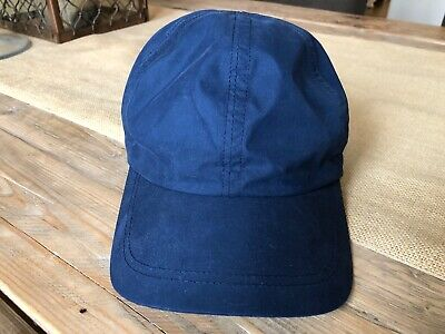 55ee4a5069a90 Wigens NWOT Nylon Baseball Cap In Navy Blue Size Large • 50.00