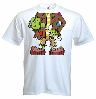 FRANKENSTEIN FANCY DRESS  MENS T-SHIRT Stag Party Do Night  Costume Outfit • 11.99£