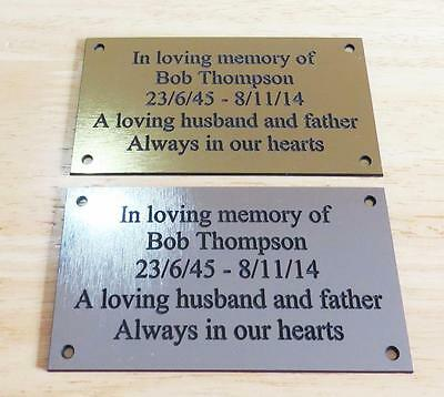 Brass/silver Personalised Engraved Memorial Celebration Plaque Various Sizes.  • 5.95£
