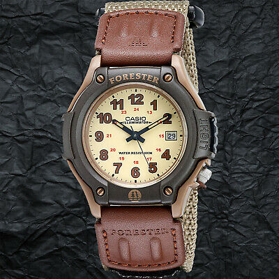 $24.95 • Buy Casio FT500WVB-5BV Brown FORESTER Watch Analog Cloth Band Brown 100M WR New