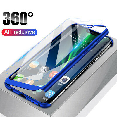 AU5.17 • Buy For Huawei Y5 Y6 Y7 Y9 Prime 2019 360° Full Protect Case Cover + Tempered Glass