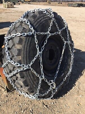 $299 • Buy 4 Tire Chain Military 365/85R20 Heavy Duty 2 Pair New Crate Fit 40-44 Tall Tires