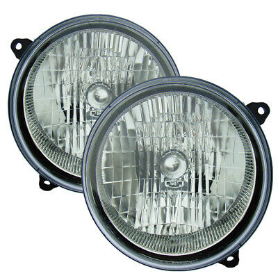 $60.99 • Buy For 2002 2003 2004 Jeep Liberty Headlights Headlamps Pair Set Replacement