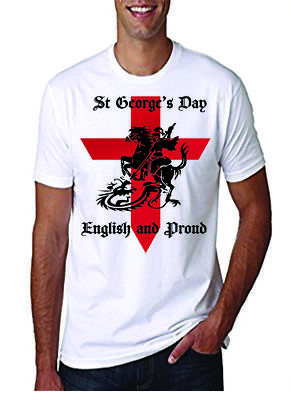 St Georges Day Proud-To-Be English T Shirt Adult • 8.50£