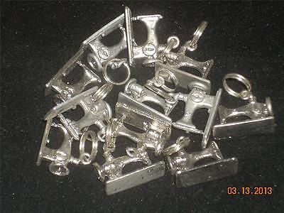 $11.99 • Buy Wholesale Lot #336 Pewter Sewing Machine Charm As Pendant Earring KeyChain Craft