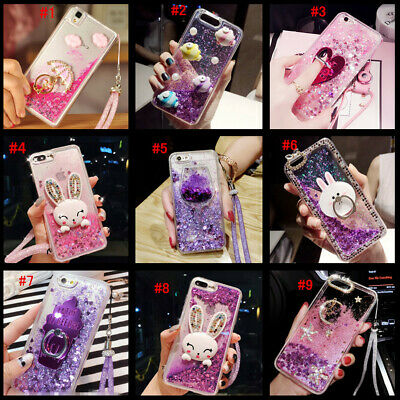 AU12.49 • Buy Dynamic Liquid Glitter Quicksand Soft Bumper Back Phone Case Cover & Lanyard #L