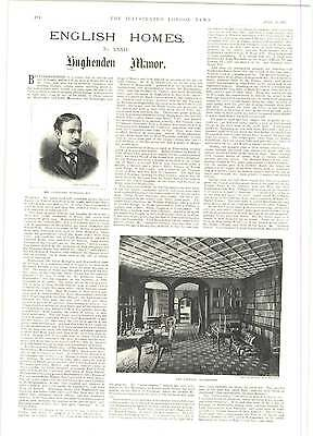 1893 R Caton Woodville Late Arrivals High Society Hughenden Manor • 8£