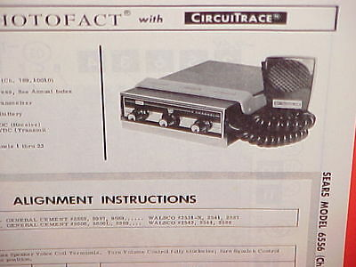 $ CDN20.72 • Buy 1967 Sears Silvertone Cb Radio Service Manual Model 6556 (chassis 789.10010)