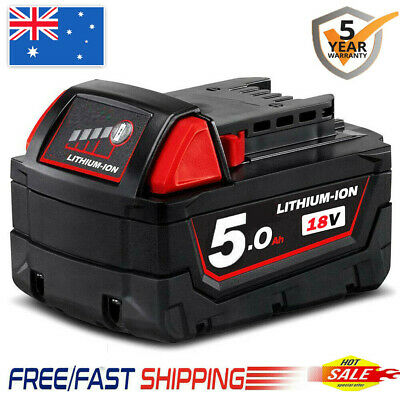 AU42.99 • Buy For Milwaukee M18 XC 5.0AH LITHIUM ION 18V Battery M18B 48-11-1852 48-11-1828 AU