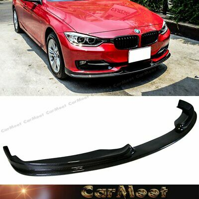 AU442.77 • Buy Carbon Fiber Front Lip H Look For 12-15 F30 F31 3-SERIES Factory Standard Bumper