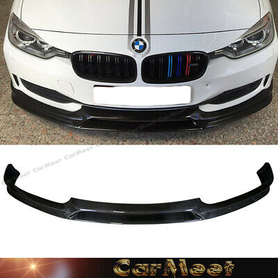 AU547.64 • Buy Carbon Fiber Front Lip 3D Look For 12-15 F30 F31 3SERIES Factory Standard Bumper