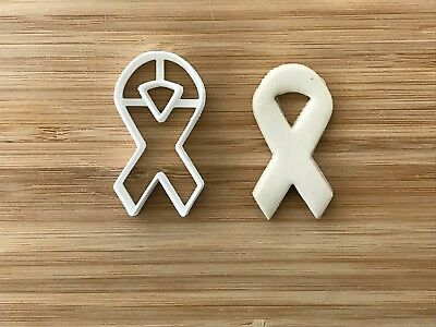 £2.40 • Buy Breast Cancer Ribbon Uk Plastic Cup Cake Topper Cookie Cutter Fondant Cake